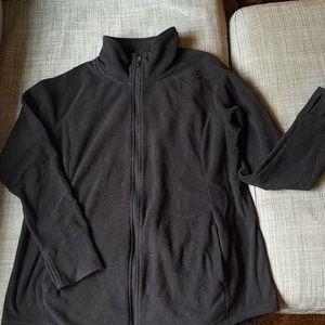 Old Navy Maternity Full Zip Black Fleece Jacket